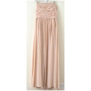 Vera Wang Peach Pink Sleeveless Pleated Dress